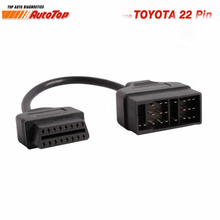 Top OBD2 Cable Adapter for Toyota 22Pin to 16Pin OBD Adapter to OBDII Connector for Toyota 22 Pin ODB2 Cable for TOYOTA Corolla(China)