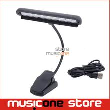 Flexible Music Stand Light Lamp with Adapter Clip-On desk 2 Modes Gooseneck LED Lamp for Guitar Musical Instruments Book Lights(China)