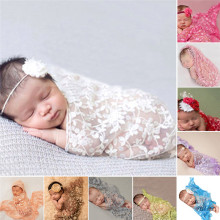 Embroidery Lace Baby Photography Props Newborn Photography Wraps Handmade Lace Scarf Baby Photo Props Accessories