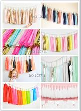 Wholesale 5000pcs Customizable Tissue Paper Tassel Garland Party Weddings Nursery Bedroom Store Photography Decorations(China)