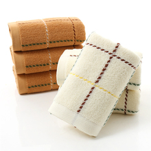 Jacquard Plaid 33*74 cm Soft 100% Cotton Terry Hand Towels for Adults Decorative Face Bathroom Hand Towels Toallas de Mano V5841