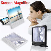 Lazy Desktop Bracket Mobile Phone Screen Magnifier Eyes Protection Display 3D Video Screen Amplifier Folding Enlarged Expander(China)