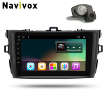 "Navivox 8"" 2din Stereo VideoPlayer Android 7.1 Rom 2G GPS Navigation 8 /4 Core For Corolla 2007-2011 Wifi/BT/3G/4G/ (No DVD )(China)"