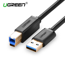 Ugreen USB 3.0 Printer Cable Super Speed Type A Male to B Male Sync Data Charger Scanner Cable 2m for HP Canon Epson Printer