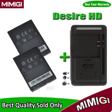 1Lot=2PCS Genuine BG32100 BA S530 S520 Battery +1PC Charger For HTC Desire HD salsa c510e s710e s710d s510e Incredible S AKKU