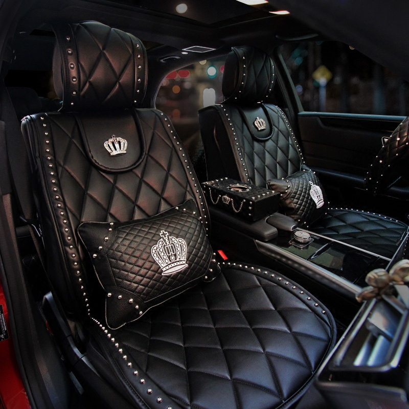 Leather-Car-Seat-Covers-Fashion-Crown-Rivet-Universal-Automobile-Seat-Cushion-Front-and-Rear-Mats-Car-Styling-2