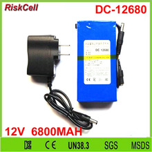 30pcs/lot Factory manufacturer DC-12680 6800mAh rechargeable dc 12V 6800MAH li-ion polymer battery for GPS,Lan router