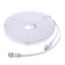 10m High Quality High Speed Cat7 SSTP RJ45 Network LAN Cable Internet Flat Network Cable with Plated Connector