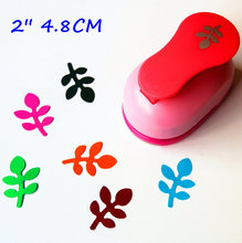 free shipping 2 inch (about 4.8cm) leaf design of craft punch eva foam maker paper punches for scrapbooking(China)
