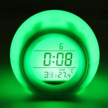 Merry Christmas Gift Multi-function LED Glowing Color Changing Digital Alarm Clock LED Watch Glowing Alarms Thermometer Clocks