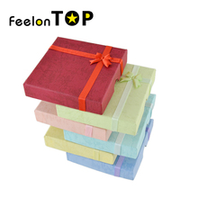 Random color New Designer Fashionable Colorful Paper Graceful Bracelets Jewelry Box Gift Package(China)