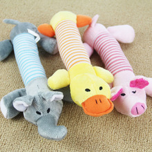 New Dog Toys Pet Puppy Chew Squeaker Squeaky Plush Sound Duck Pig Elephant Toys 3 Designs Worldwide Store