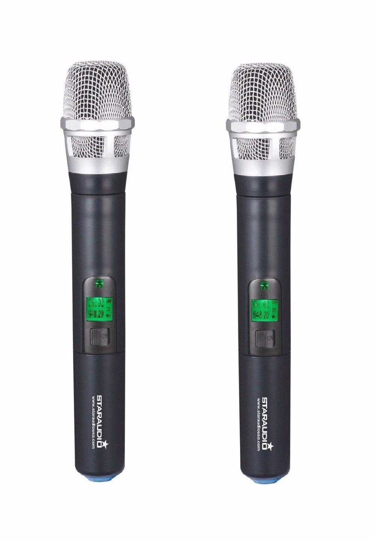 STARAUDIO SMU-4000A+B 4 Channel UHF Wireless DJ Stage Club Party Karaoke Handheld Headset Microphone System