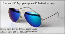 Custom made Myopia  Polarized 1.60 lenses+sunglasses frame,  3025/3026 Polarized nearsighted Myopia  sunglasses