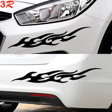 Car styling For ford Motorcycle Flame sticker Baby on board Reflective stickers on cars Car-covers accessories 35cm