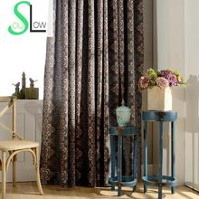 Slow Soul Collection Printing Curtains Bedroom European Room Style Woven French Window Pastoral Floral For Living Kitchen Roman