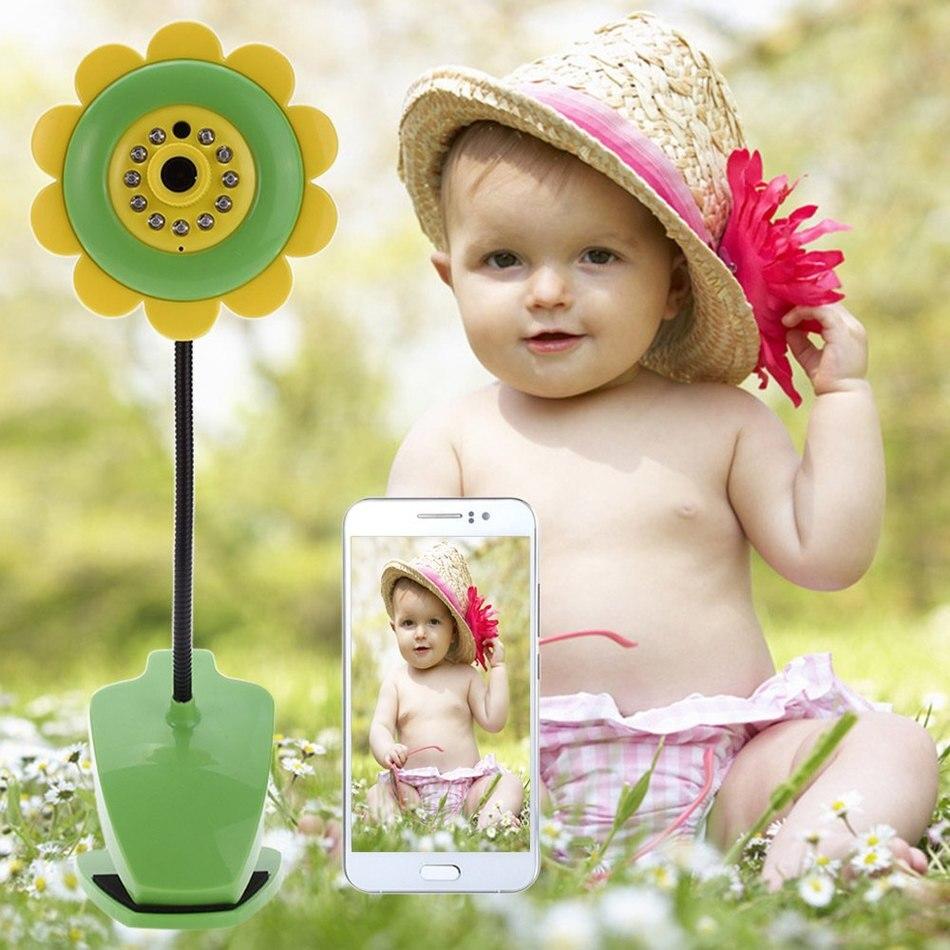 Electronica Sunflower Wireless Baby Monitor Vedio Baby monitor Wifi IR Night Vision Sleep Monitor Nanny Camera Audio Mini Camera<br><br>Aliexpress