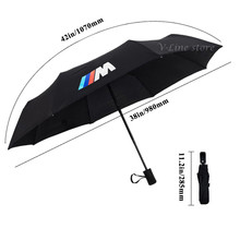 Car Automatic umbrella M logo For BMW Emblem