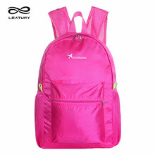 Leatury 2016 New Fashion Waterproof Backpack High Quality Light Fold over Backpack Bicycle Travel Back Pack Women Men School Bag