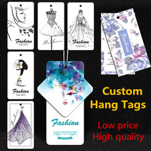 Wholesale 1000pcs Garment Hang Tag Factory Price Custom Swing Garment/Bags/Shoes/Jeans/Hat Hang Tags Supplier
