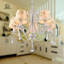Chandelier crystal lamp for bedroom Kids room dining room avize modern chandelier with lampshade crystal lighting chandelier