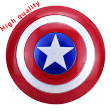 J G Chen The Avengers Captain 32CM America Shield Light-Emitting & Sound Cosplay property Toy Metallic shield Red/Blue(China)