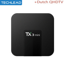 TX3 Mini TV Box Android 7.1 S905W Quad Core With French Arabic Europe IPTV Package Italy Dutch VOD QHDTV UK USA DE IT Channels(China)