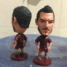 Soccerwe 2016-17 Season 2.55 Inches Height Football Player Dolls Roma 10 Francesco Totti Figure Red Kit Collections Gift(China)