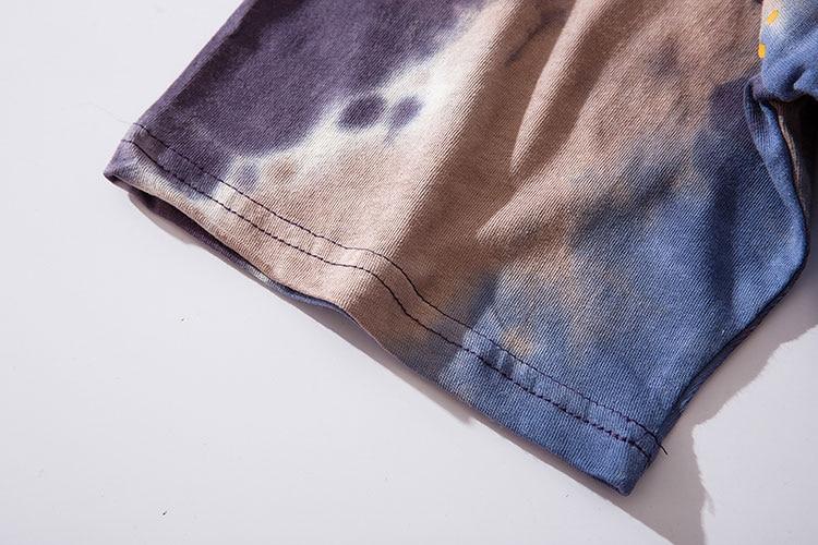 Graffiti Smile Print Tie Dye Tshirts 4