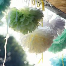 "10pcs/lot 8""(20cm) Tissue Paper Pom Poms DIY Creative Chinese Paper Flower For Birthday Party Supplies Wedding Decorations"