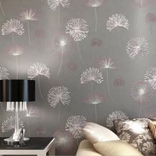 Import Non-Woven Dandelion Design 3DWallpaper Roll /Warm Home Decor Embossed Wall Paper For Living Room Bedroom papel de parede