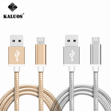 KALUOS Micro USB Data Sync Charge Cable For Samsung S6 S7 Edge LG G3 HTC One Redmi Android Phone Fast Charging Wire 20cm 1m 1.5m