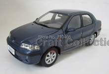 Blue 1:18 Fiat Siena 2002 Diecast Cars Scale Models Baby toys Limited Edition Factory Origin