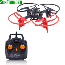 SunFounder Mini Drone Remote Control Quadcopter 3D Flip 6 Axis Gyro 2.4G 4CH Mini Drone Quadcopter RC FPV Drones Helicopters(China)
