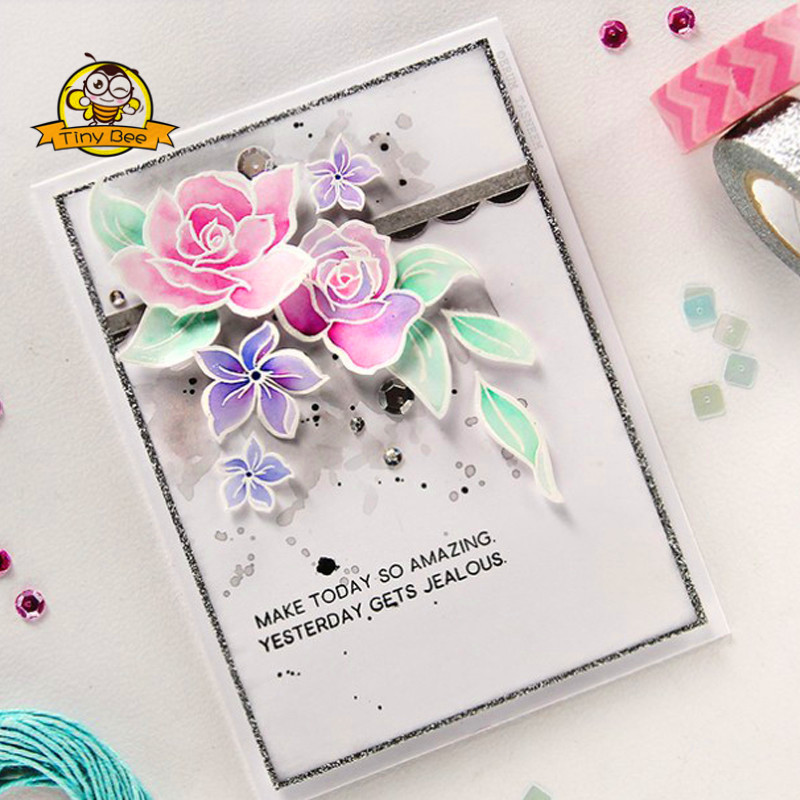 Tree flower frame Stitched Metal Cutting Dies DIY Scrapbooking Stamps