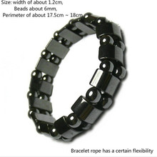 Half moon magnetic black stone magnetic therapy health care Bracelet Weight Loss Round Black Stone Bracelet 1 pcs