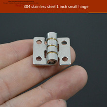 Free shipping Thick 304 stainless steel small hinge 20*20 stainless steel hinge miniature loose small hinge
