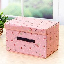 2017 Hot Two Colors Storage Box Clothes Oxford Cloth Underwear Bra Socks Washable PP Board Organizer Sundries Box for Home