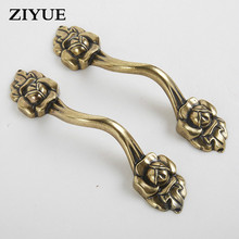 2PCS/Lot Free Shipping Small Drawer Handle Zinc Alloy Antique Furniture Cabinet Door Handle Cabinet Double Handle(China)