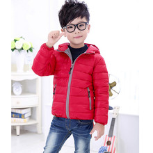 Fashion Hooded Kids winter Parka coat Korean style Boys Down coat Girls warm down jacket 9 Colors Optional FREE SHIPPING