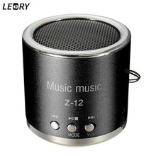 LEORY Z12 Mini Cylinder Portable Speaker Amplifier FM Sound Music Radio HIFI Support USB Micro for SD TF Line in Card MP3 Player