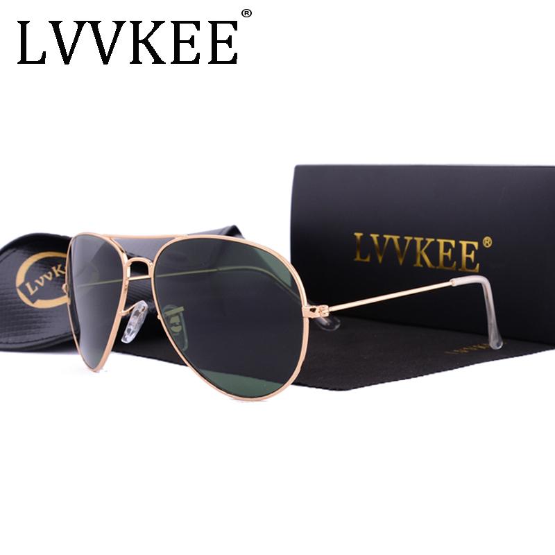 Hot Classic Brand Aviator glass lenses Gradient sunglasses men women Mirror sun glasses Male 58mm G15 lens gafas de sol mujer 8