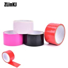 Buy PVC Duct Tape Elastic Sticky Bondage Binding Tape Kinky Tied Fetish Restraint Belt BDSM Tape
