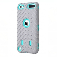 For Apple Ipod Touch 6 Tire Dual Layer Case For Apple Ipod Touch 6 TPU + Hard Plastic 3 in 1 Heavy Duty Armor Hybrid Phone Cover