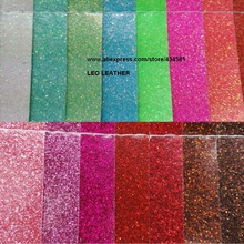 Fine Glitter Fabric for DIY Leather PU Glitter Leather with Fluorescence color Faux Leather Fabric Synthetic Leather Fabric P258