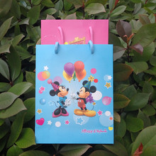 2016 Minnie Mickey Mouse Party Supplies Pink/Blue Baby Shower Candy Box Kids Birthday Favor Gift Bag Chocolates Boxes For Guests