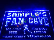 DZ065- Name Personalized Custom Football Fan Cave Bar Beer Neon Sign   hang sign home decor shop crafts