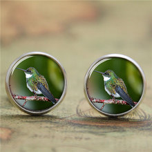10pairs/lot Hummingbird earring, small brightly coloured bird earring print photo bird earring