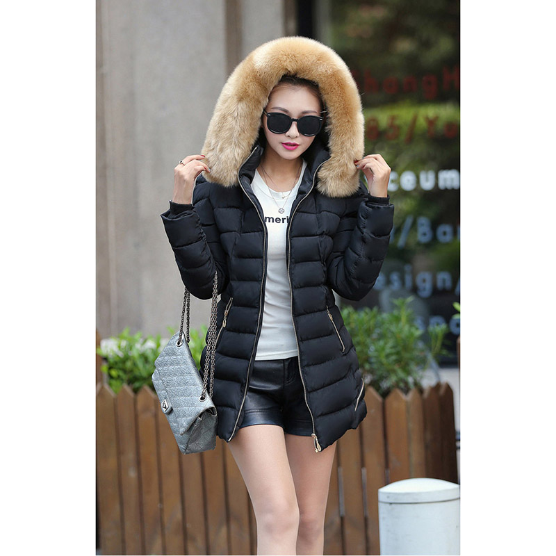 New winter Fashion Female Long Ladys hoodie Fur Coat down cotton-padded jacket 2016 cute lovely 2 colors YRF161116Одежда и ак�е��уары<br><br><br>Aliexpress