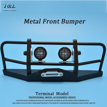 RC Truck Front Bull Bar  Metal Bumper W/Light Pods For 1/10  D90 D110 Defender 90 110